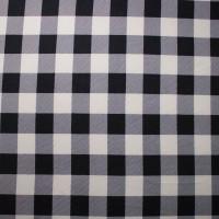 Black and White Buffalo Plaid Sweater Knit