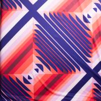 Purple, Pink, and Red Contemporary Diamond Pattern Nylon/Lycra Print