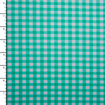 Mint Green and White Gingham Plaid Nylon/Lycra