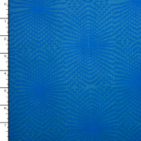 Blue on Blue Illusion Print Double Brushed Poly