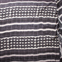 Black and Offwhite Dyed Circles and Ovals Rayon Challis