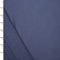 Slate Blue Organic Cotton/Bamboo Stretch French Terry