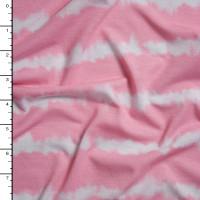 Princess Pink Grunge Stripe Stretch Jersey Knit