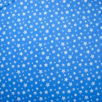 White Stars on Sky Blue 4-Way Stretch Nylon/Lycra