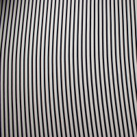 Black and Offwhite Pencil Stripe Braided Look Stretch Liverpool Knit
