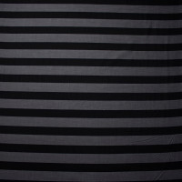 Black and Grey Striped Cotton Voile from 'Theory'