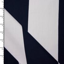 Navy and White Wide Stripe Ponte De Roma