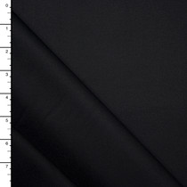 Black Fine Midweight Cotton Twill