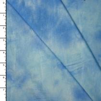 Sky Blue Tie Dye Stretch Rayon Jersey Knit