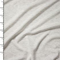 Light Grey Heather Lightweight Rayon Jersey Knit Fabric By The Yard