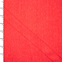 Bright Red Heather Lightweight Jersey Knit Fabric By The Yard