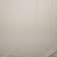 Warm White Tiled Floral Cotton Eyelet Fabric By The Yard - Wide shot