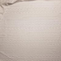 Warm White Tribal Stripe Cotton Eyelet Fabric By The Yard - Wide shot