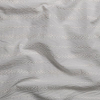 White Diamond Stripe Embroidered Cotton Lawn Fabric By The Yard - Wide shot