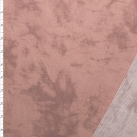 Blush Pink Marbled Look French Terry