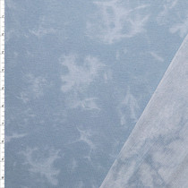 Light Blue Marbled Look French Terry Fabric By The Yard