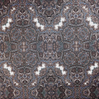 Black, White, Mint, and Periwinkle Paisley Stretch Cotton Sateen from '7 for all Mankind' Fabric By The Yard - Wide shot