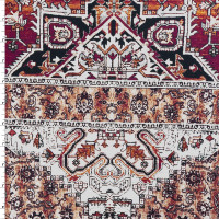 Burgundy and Offwhite Floral Ornate Stretch Cotton Sateen from '7 for all Mankind' Fabric By The Yard