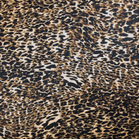 Paint Daub Cheetah Print on Stretch Cotton Sateen by '7 for all Mankind Fabric By The Yard - Wide shot