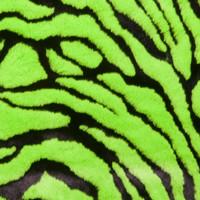 Lime Green Tiger Faux Fur