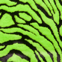 Lime Green Tiger Faux Fur