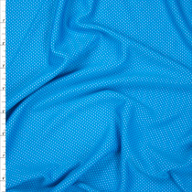 Turquoise and Aqua Performance Double Knit Fabric By The Yard