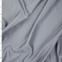 Charcoal and Light Grey Performance Double Knit Fabric By The Yard