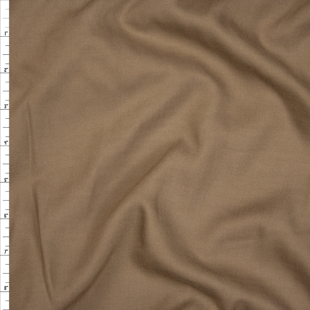 Cappucino Rayon Challis Fabric By The Yard