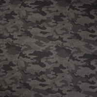 Black and Dark Grey Camouflage Print Midweight Stretch Denim from 'Hudson Jeans' Fabric By The Yard - Wide shot