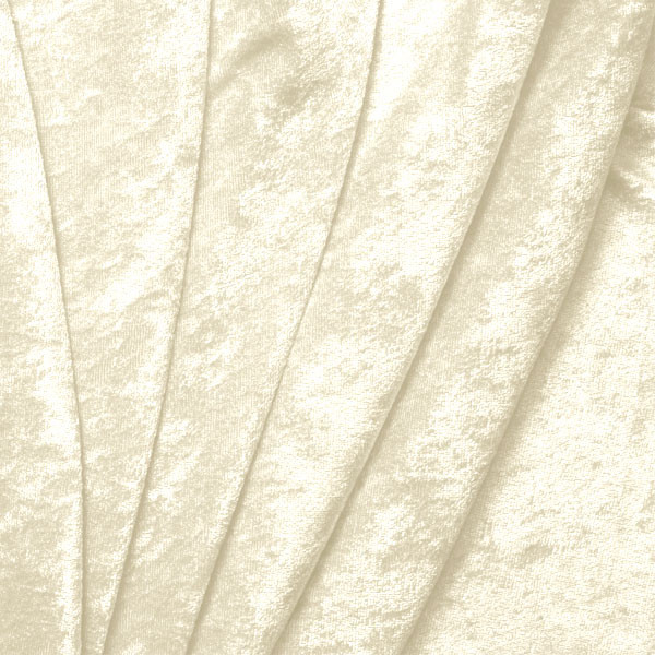 Ivory Crushed Panne Velour