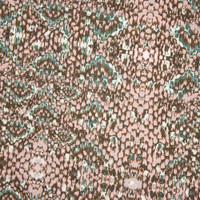 Blush, Tan, and Teal Snakeskin Print Designer Stretch Twill from 'Hudson Jeans' Fabric By The Yard - Wide shot