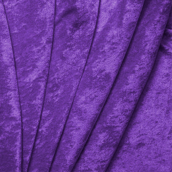 Purple Crushed Panne Velour