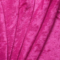 Hot Pink Crushed Panne Velour