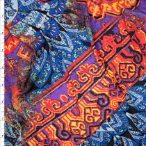 Arabian Kaleidoscope Poly/Lycra Stretch Knit Fabric By The Yard