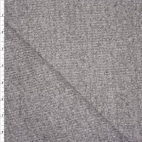 Heather Grey Brushed Ribbed Sweater Knit Fabric By The Yard - Wide shot