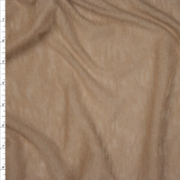 Tan Slubbed Lightweight Sweater Knit Fabric By The Yard