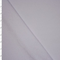 White Midweight Cotton French Terry Fabric By The Yard - Wide shot