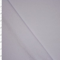 White Midweight Cotton French Terry Fabric By The Yard