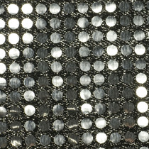 Silver Black Big Dot Sequin Fabric