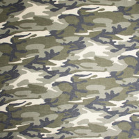 Camouflage Soft Printed French Terry Fabric By The Yard - Wide shot
