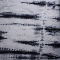 Silver and Black Streak Tye Dye Lightweight Stretch Lightweight French Terry Fabric By The Yard - Wide shot
