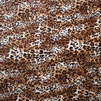 Leopard 4-way stretch velvet (same as BenTex) Fabric By The Yard - Wide shot
