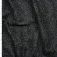Charcoal brushed ribbed  Fabric By The Yard