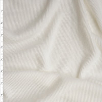 White Midweight Ribbed Sweater Knit Fabric By The Yard
