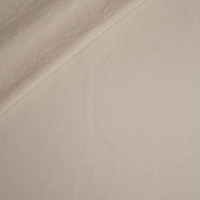 Natural Ivory Lightweight Cotton French Terry Fabric By The Yard - Wide shot
