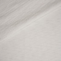 White Slubbed Midweight Cotton French Terry Fabric By The Yard - Wide shot