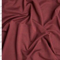 Wine Heather Double Brushed Poly Spandex Fabric By The Yard