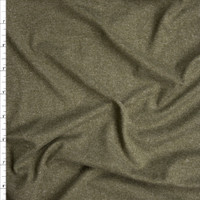 Olive Green Heather Double Brushed Poly Spandex Fabric By The Yard