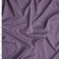 Plum Heather Double Brushed Poly Spandex Fabric By The Yard