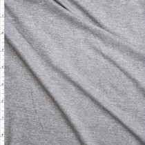 Grey Heather Double Brushed Poly Spandex Fabric By The Yard